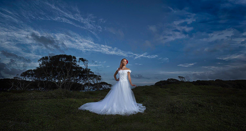 Wedding bride dramatic portrait | Wedding photographer Raleigh NC
