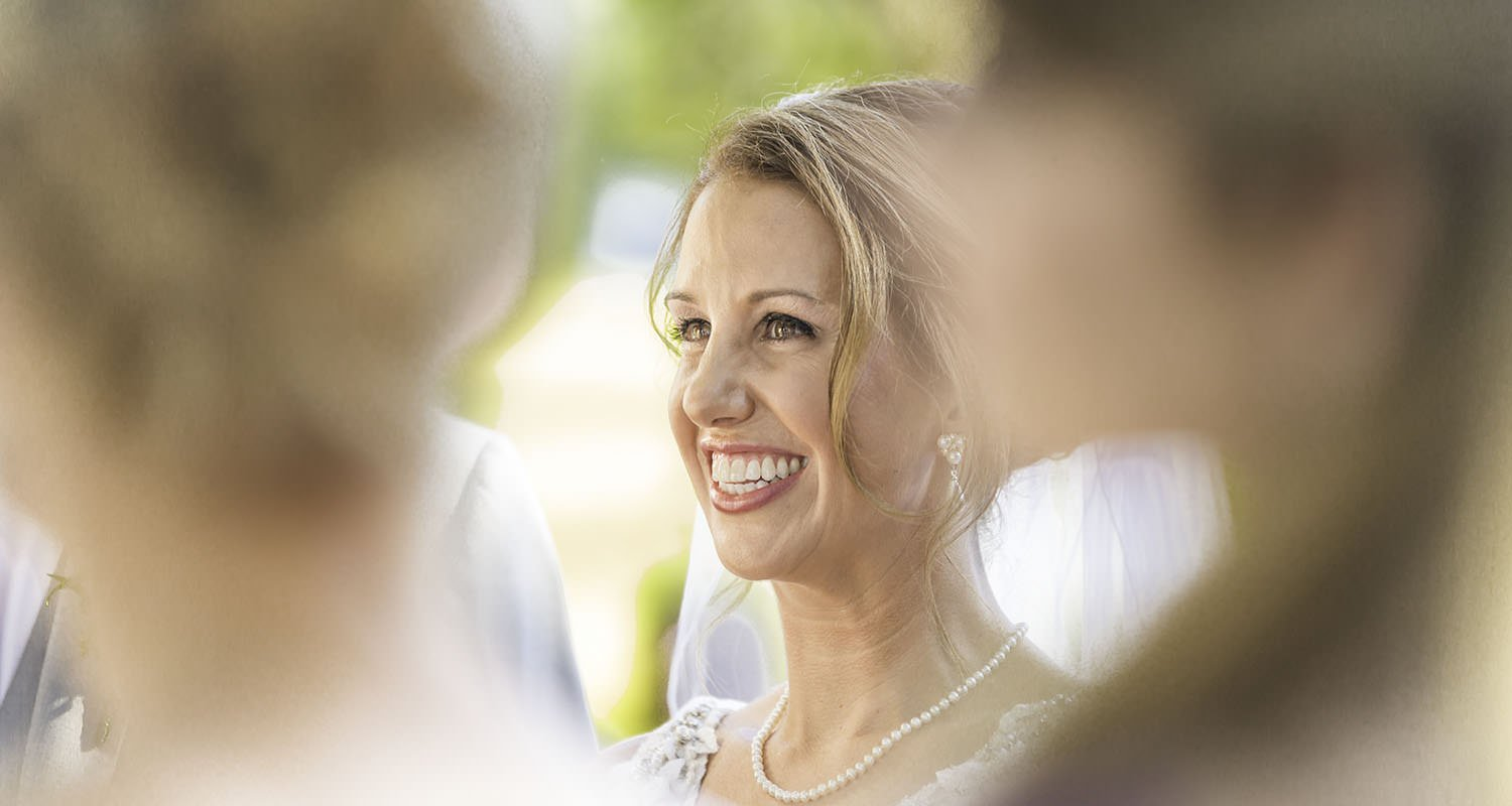 Wedding bride smiling portrait | Wedding photographer Raleigh NC