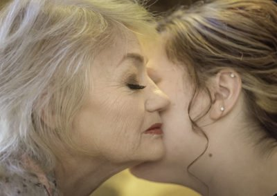 Wedding bride and mother moment portrait | Wedding photographer Raleigh NC