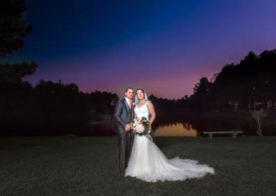 Wedding bride and groom dramatic portrait | Wedding photographer Raleigh NC