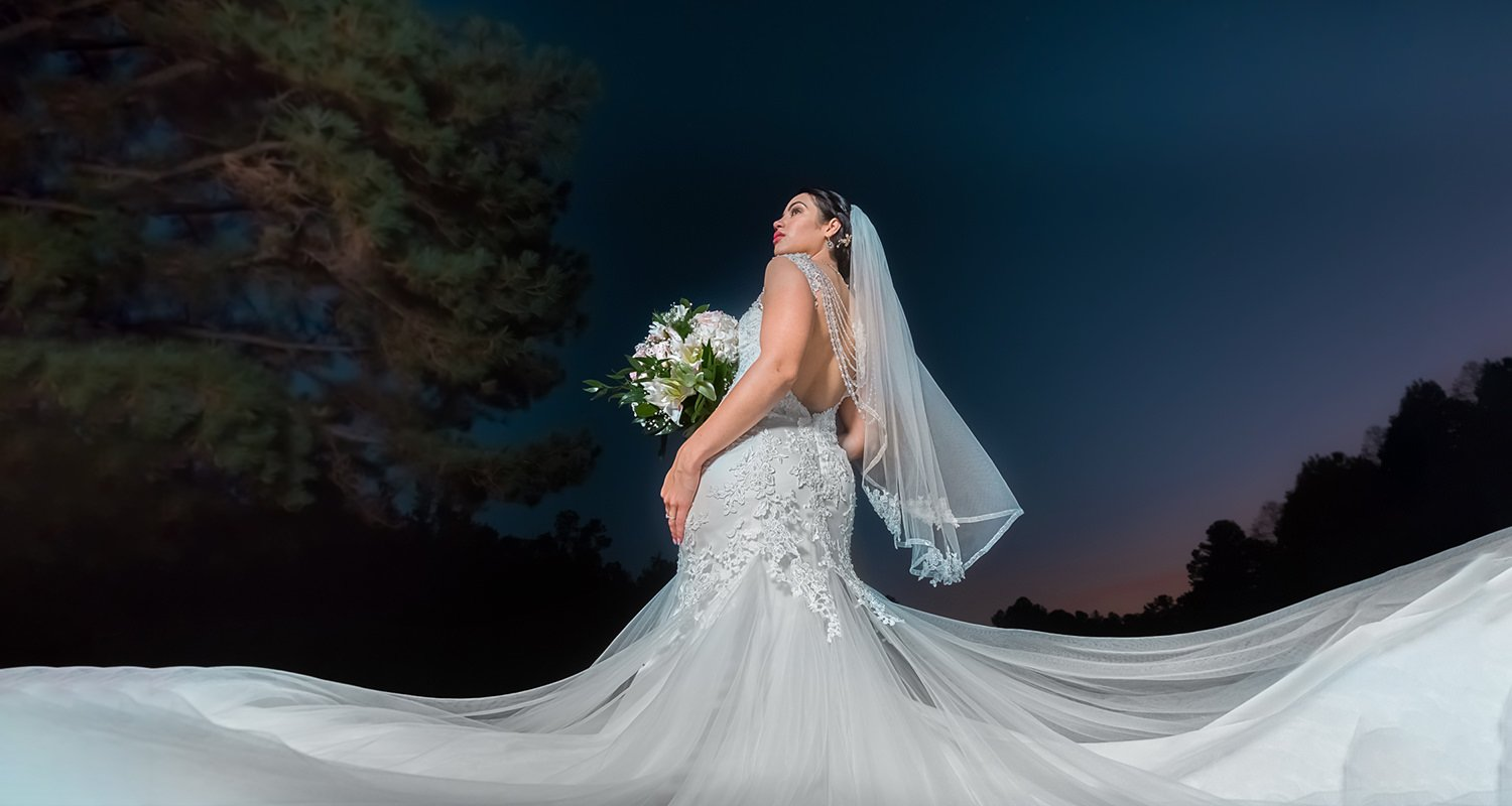 Wedding bride big dress | Wedding photographer Raleigh NC