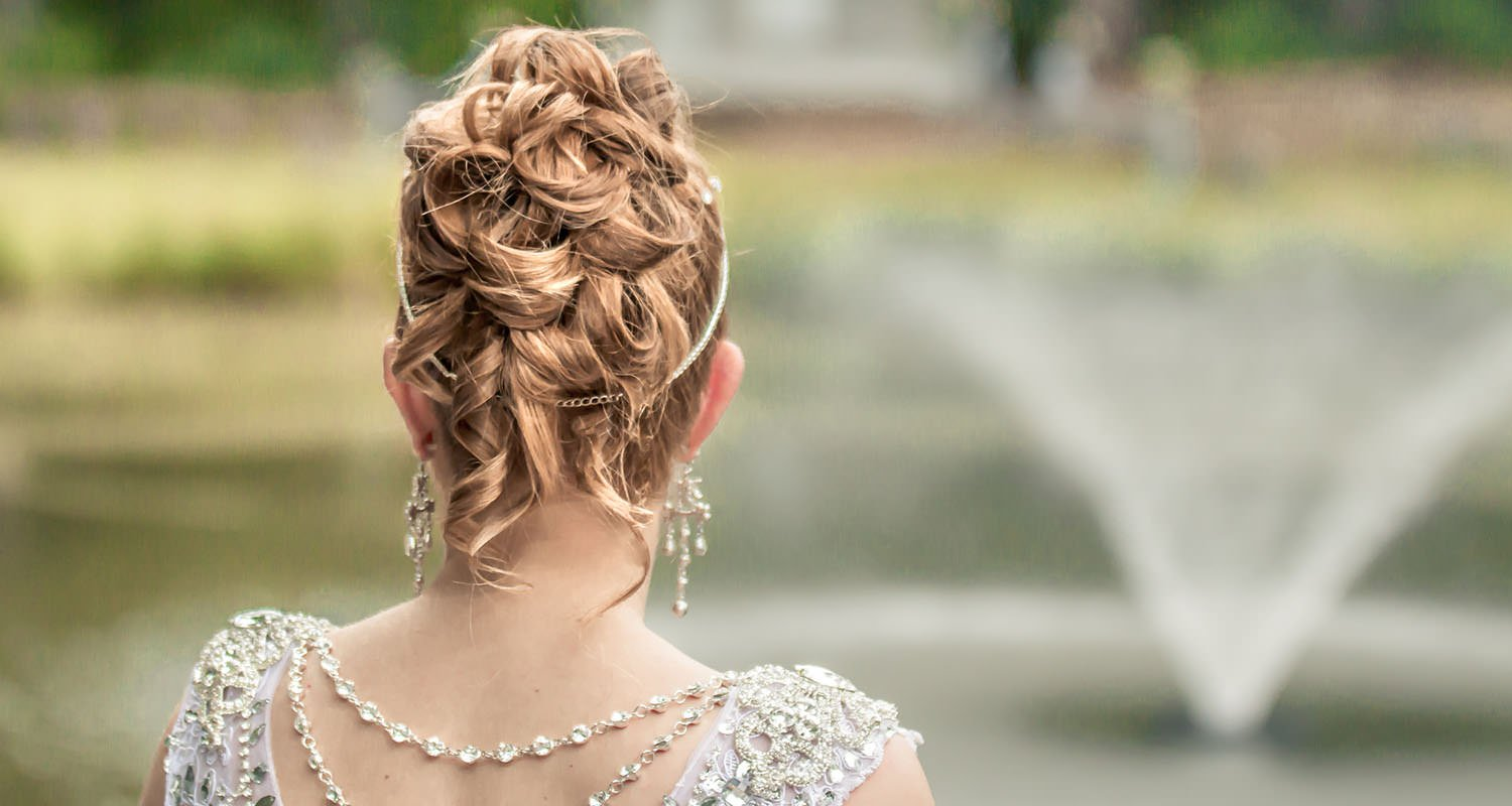 Wedding bride hair detail | Wedding photographer Raleigh NC