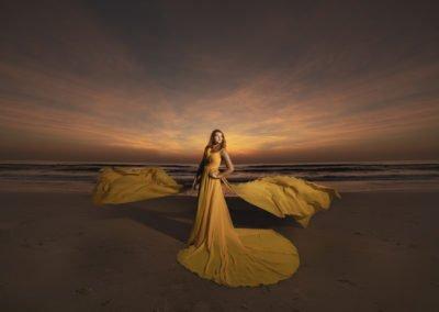 High school senior photo on the beach | Wedding photographer raleigh NC