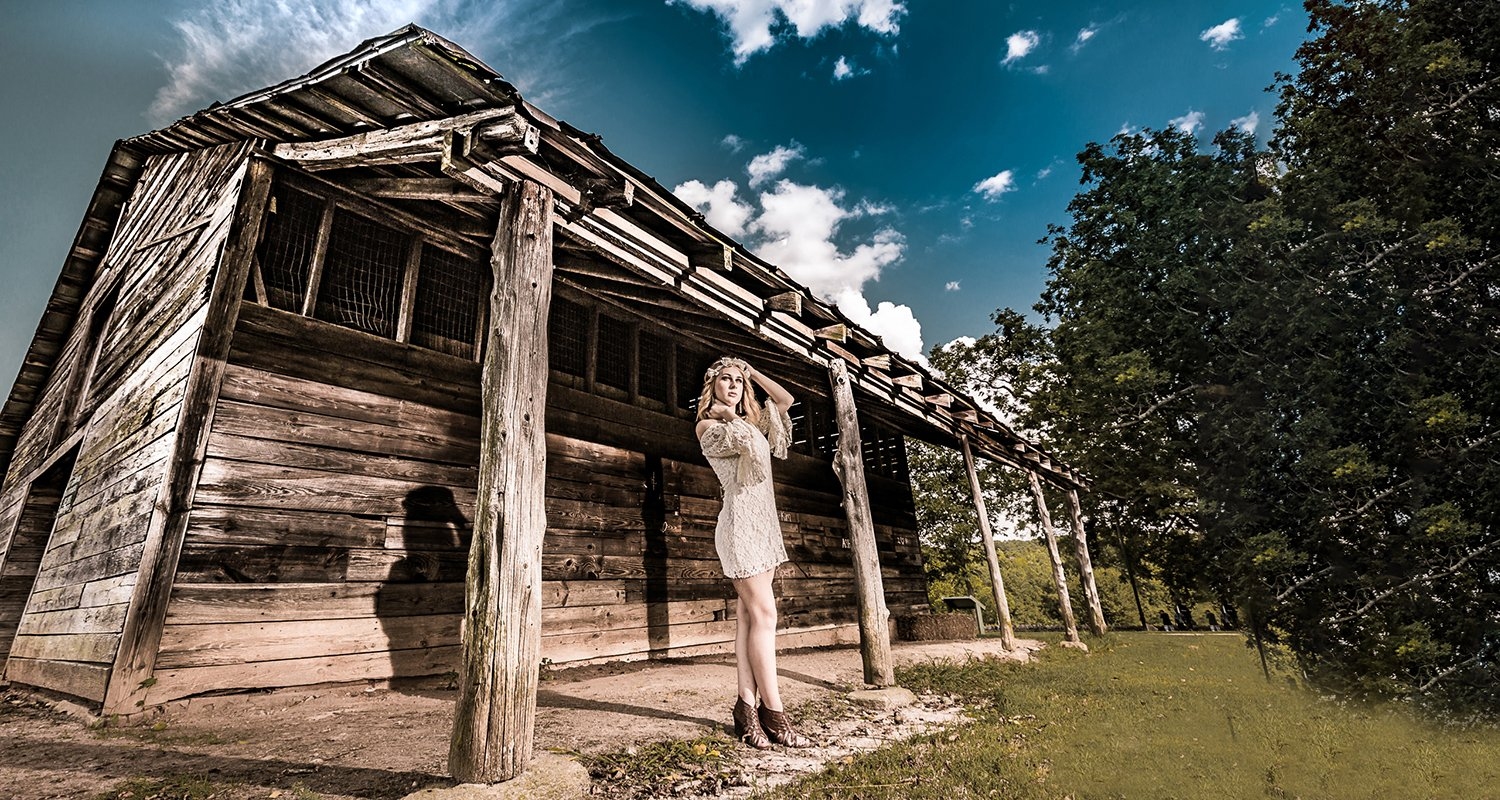 High school senior girl cottage and blue skies  | Wedding photographer raleigh NC