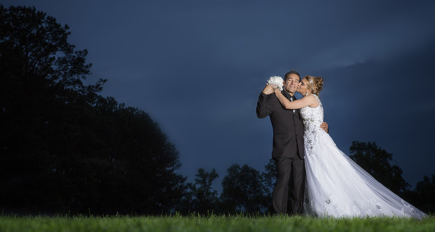 Dramatic wedding couple portrait | Wedding photographer Raleigh NC