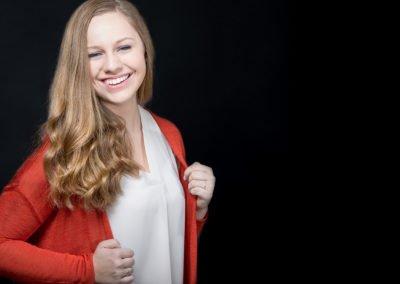 High school senior girl smiling  | Wedding photographer Raleigh NC