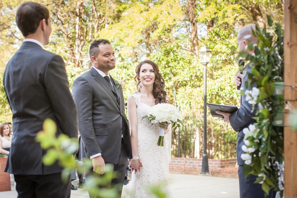 Wedding ceremony | Wedding photographer Raleigh NC | The Garden on Millbrook wedding