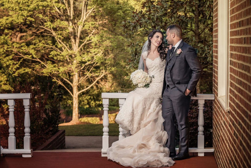 Bride and groom portriat | Wedding photographer Raleigh NC | The Garden on Millbrook wedding