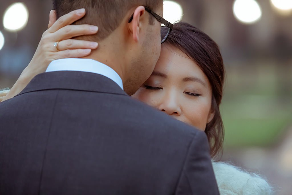Engagement portrait. Close up | Wedding photographer Raleigh NC