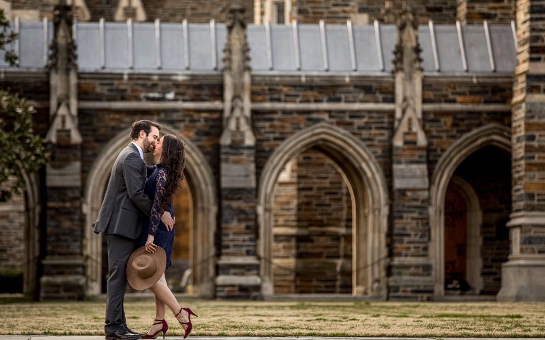 couple-smiling-almost-kissing-duke-chapel