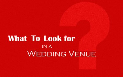 Wedding Venue! Do you know which questions to ask before making your final decision?