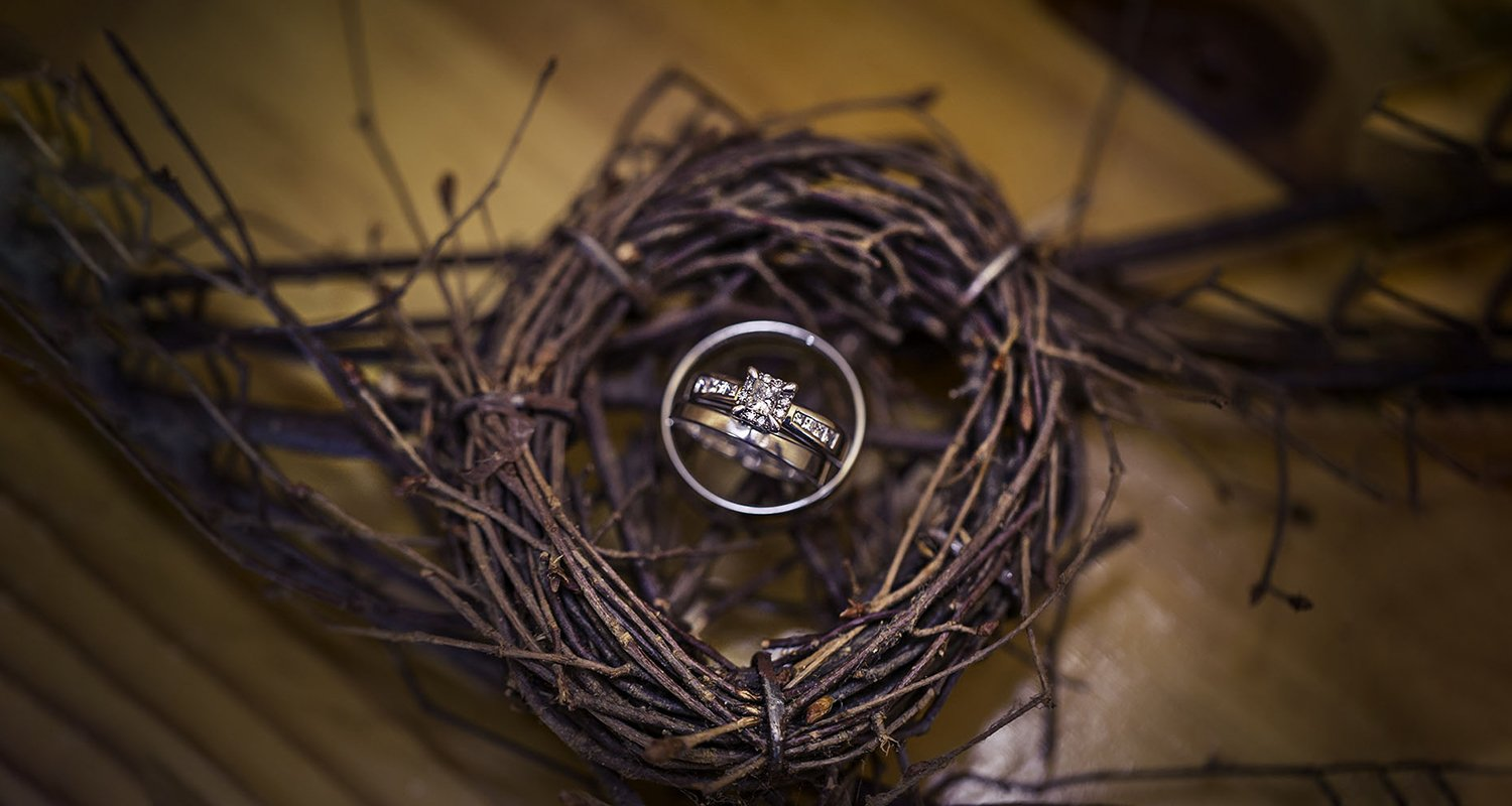 Dramatic wedding ring photo | Raleigh wedding photographer